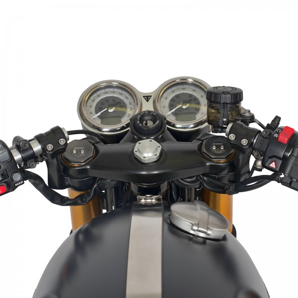 Fork bridges Thruxton 1200 black powder coating