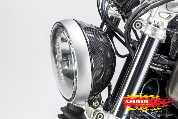 Carbon headlight housing