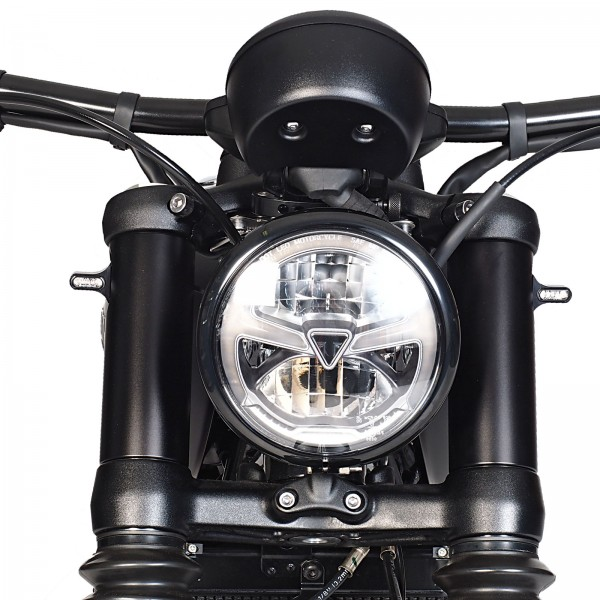 Forkcover including turn signals for Bobber