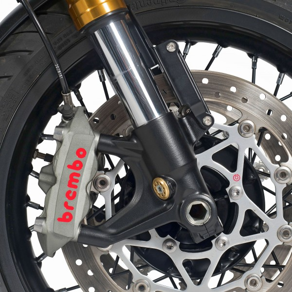 Fork feets Thruxton 1200 R / RS black painting