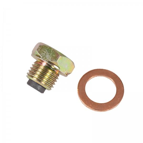 Magnetic oil drain screw