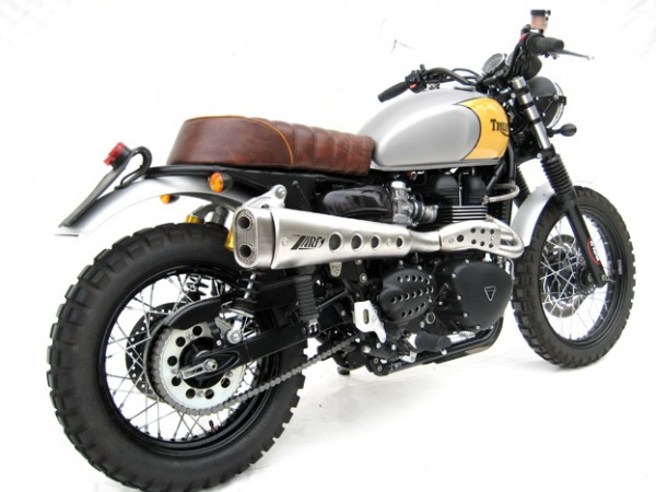 zard flat scrambler auspuff triumph ac bis bj 2015. Black Bedroom Furniture Sets. Home Design Ideas