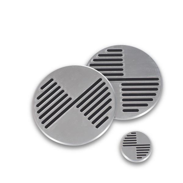 CNC Milled Silver Embleme für BMW