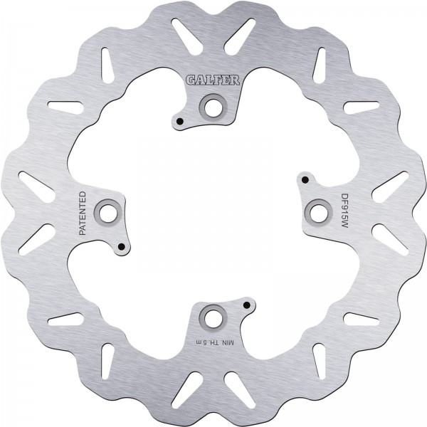 Wave brake disc rear