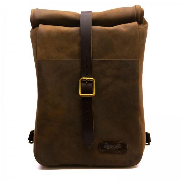 Vintage mini leather Backpack / Sidebag