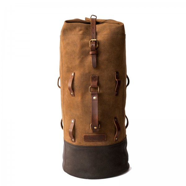 Military Leather Duffel Bag