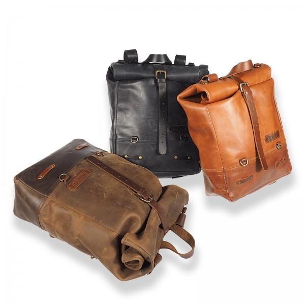 Vintage leather Backpack / Sidebag