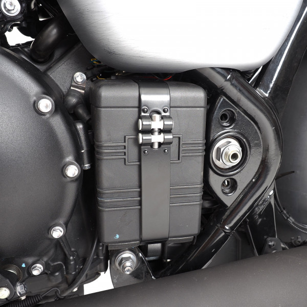 Batteriekasten Riemen Bobber schwarz beschichten