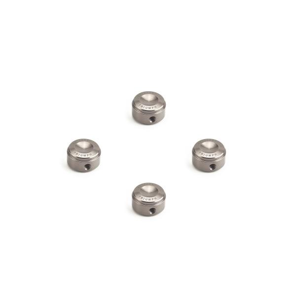 Zylinderkopfschrauben-Kappen schwarz, silber & antrahzit