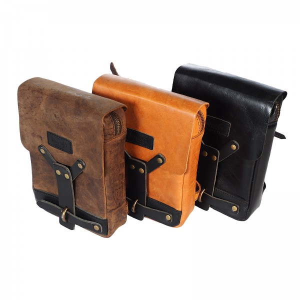 Leg bag genuine leather