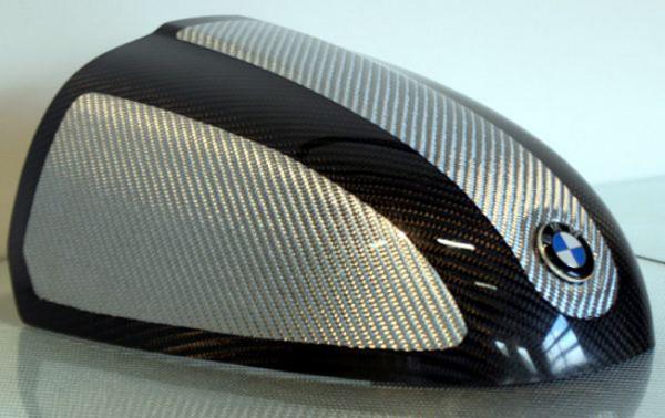 Carbon Höckerabdeckung Silber-Schwarz