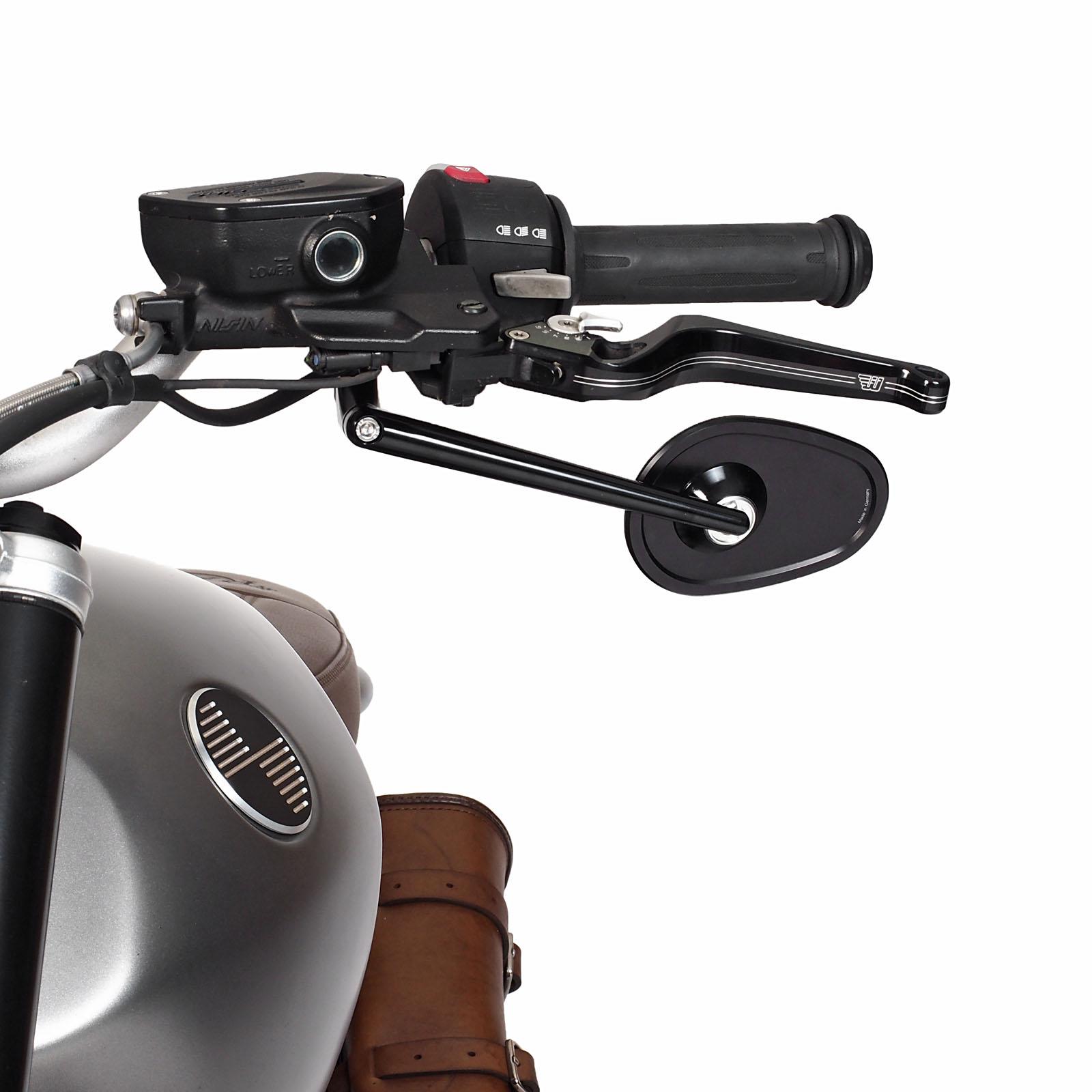Rizoma Dynamic Motorcycle Billet Mirror Black