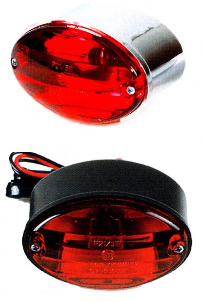 Cat Eye rear light black / chrome