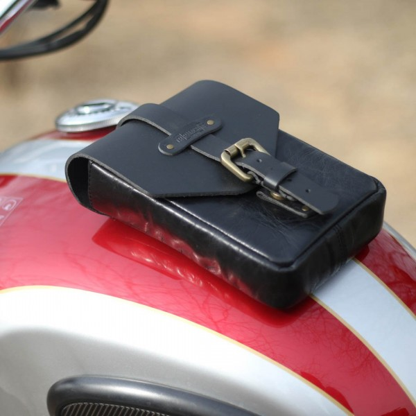 Leather Tank Bag Magnetic