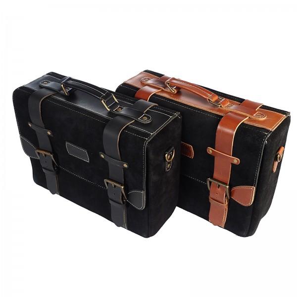 Oldschool Leather Luggage Suitcase